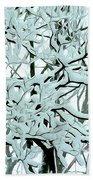 Snow On Branches Beach Towel