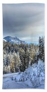 Snow On The Bow Valley Parkway Beach Towel