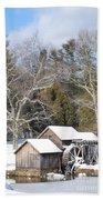 Snow On The Mill 2 Beach Sheet