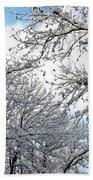 Snow On Trees Beach Towel