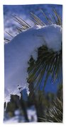 Snow Ornament - Joshua Tree Beach Towel