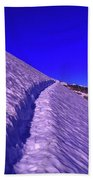 Snow Trail  Beach Towel
