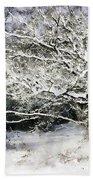 Snow Tree Beach Towel