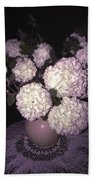 Snowball Bouquet Beach Towel