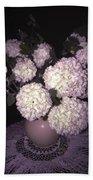 Snowball Bouquet Beach Sheet