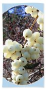 Snowberry Cluster Beach Towel