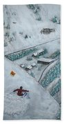 Snowbird Steeps Beach Towel by Michael Cuozzo