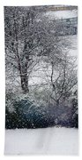 Snowfall 1 Beach Towel