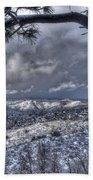 Snowfall Covers Northern Arizona For Christmas Beach Towel