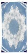 Snowflake Orb Beach Towel