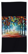 Snowing Alley Beach Towel