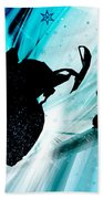 Snowmobiling On Icy Trails Beach Towel
