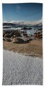 Snowy Beach Beach Towel