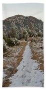 Snowy Colorado Trail Beach Towel