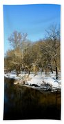 Snowy Creek Morning Beach Towel