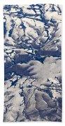 Snowy Landscape Aerial Beach Towel