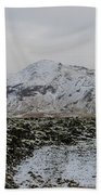 Snowy Lava Fields Iceland Beach Towel