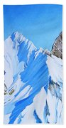Snowy Mountain Beach Towel