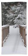 Snowy Path Beach Towel