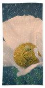 Snowy Poppy Beach Towel