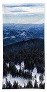 Snowy Ridges - Impressions Of Mountains Beach Towel