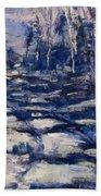 Snowy Trail Beach Towel