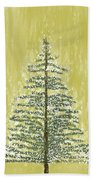 Snowy Tree Beach Towel