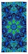 So Blue - 04v2 - Mandala Beach Towel
