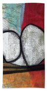 So We Begin- Abstract Art Beach Towel