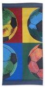Soccer Balls Beach Towel