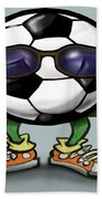 Soccer Cool Beach Towel