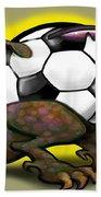 Soccer Saurus Rex Beach Towel