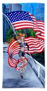 Sofia Metal Queen. Born 4th Of July Beach Towel