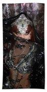 Sofia Metal Queen - Black Metal Bellydancer Model Beach Towel