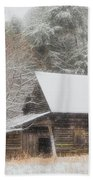 Soft Colors In The Snow Beach Towel
