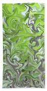 Soft Green And Gray Abstract Beach Towel