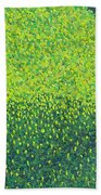 Soft Green Wet Trees Beach Towel