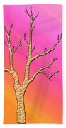 Soft Pastel Tree Abstract Beach Towel