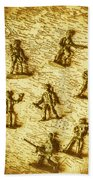 Soldiers And Battle Maps Beach Towel