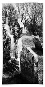 Solitary Cross At Fuerty Cemetery Roscommon Irenand Beach Towel