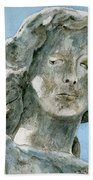 Solitude. A Cemetery Statue Beach Towel
