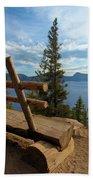 Solitude At Crater Lake Beach Towel