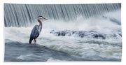 Solitude In Stormy Waters Beach Towel