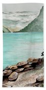 Solitude Of The Lake Beach Towel