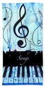Songs - Blue Beach Towel