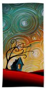 Songs Of The Night Beach Towel by Cindy Thornton