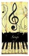 Songs - Yellow Beach Towel