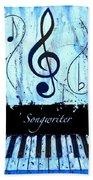 Songwriter - Blue Beach Towel