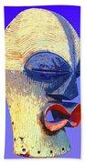 Songye Kifwebe Mask Beach Towel