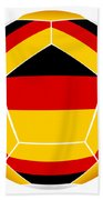 Soocer Ball With Germany Flag Beach Towel